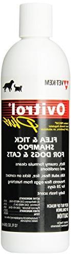 Ovitrol Vet-Kem Plus Flea and Tick Shampoo for Pets, 12-Ounc
