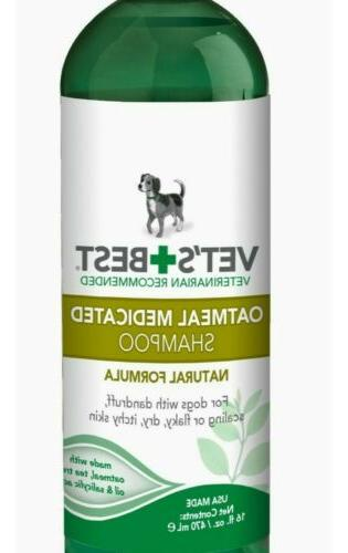 Vet's Medicated Shampoo Dogs | Soothes Dog |