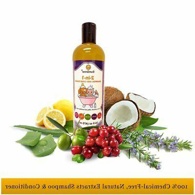 SunGrow 100% Organic, Medicinal Pet Shampoo
