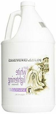 #1 All Systems Pure White Lightening Pet Shampoo, 1-Gallon