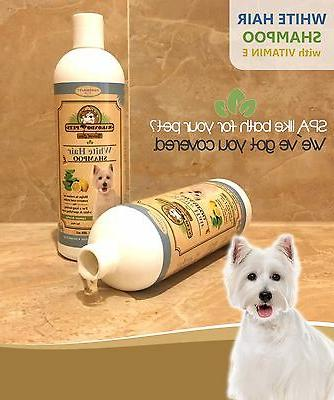 Whitening Shampoo for Dogs and with Natural Components.