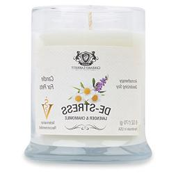 Lavender & Chamomile Aromatherapy Deodorizing Soy Candle For