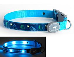 Light Up LED Dog Comfort Collar - Patented Light Up Glowing