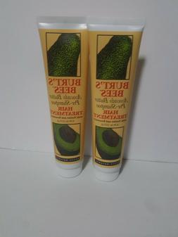 LOT OF 2 BURT'S BEES AVOCADO BUTTER PRE-SHAMPOO HAIR TREATME
