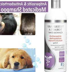 MEDICATED DOG SHAMPOO PET ALLERGIES Anti Parasite Itching Sk