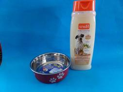 Pets Hartz Mountain Groomer's Best Oatmeal Dog Shampoo + bow