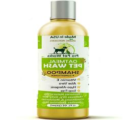Natural Oatmeal Dog Shampoo + Conditioner for Dogs and Cats-