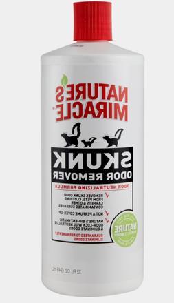 Nature's Miracle SKUNK ODOR REMOVER 32 oz No Scent Bio-Enzym