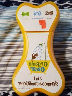 New Organic Oscar 2 in 1 Shampoo & Conditioner  8 oz for dog