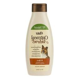 4 pack Oatmeal Naturals 4-in-1 Dog Shampoo, 18 fl oz totalin
