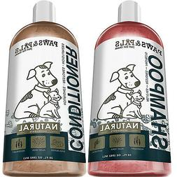 Natural Oatmeal Dog-Shampoo and Conditioner Combo - 20oz Med