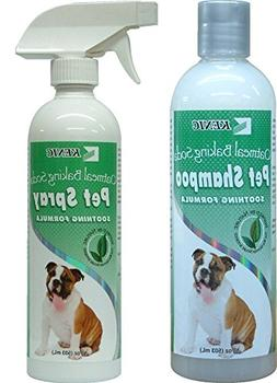 Oatmeal Dog Shampoo and Spray Conditioner Set ~ Oatmeal, Bak