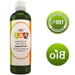 Natural Oatmeal Dog Shampoo For Itchy Skin With Pure Citrone