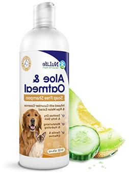 Oatmeal Shampoo For Dogs With Soothing Aloe Vera, Suitable F