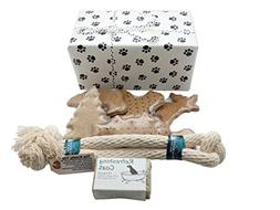 Pampered Puppy Welcome Box - Made in NH Treats Tug Toy and R