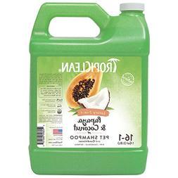 TropiClean Papaya & Coconut 2-in-1 Pet Shampoo, 1 Gallon
