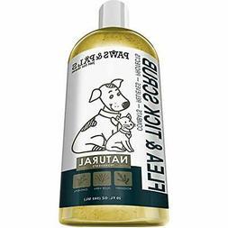 "Paws "" Pals Flea Tick Shampoo-Conditioner Scrub For Dogs Cat"