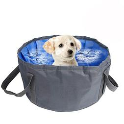 QBLEEV Pet Dog Pool Cat Puppy Foldable Portable Shower Batht