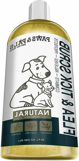 Pet Flea Tick Shampoo Conditioner Scrub for Dogs Cats Cleani
