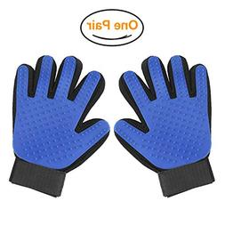 Pet Grooming Glove - Massage Magic Hair Remover - Perfect fo
