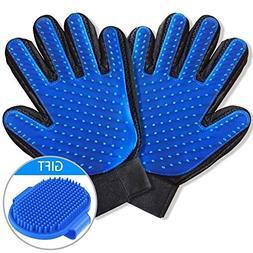 WUXIAN Pet Grooming Glove - Gentle Deshedding Brush Glove Ef
