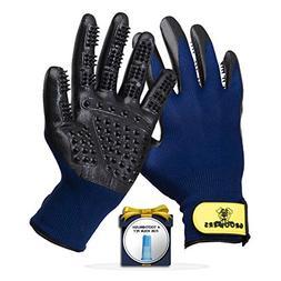 Pet Grooming Gloves - Deshedding Glove Brush & Pet Hair Remo