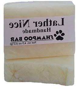 Lather Nice | Pet Shampoo Bar, Unscented, Organic Coconut Oi