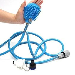 Khannika New Pet Shower Massager Dog Bath Brush Scrub Adjust