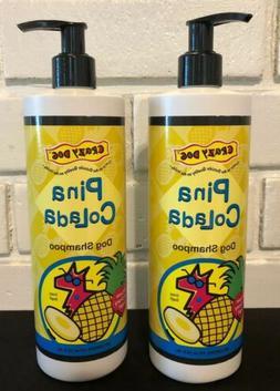 Crazy Dog Pina Colada Shampoo 2 Bottles 16oz. each Dog Shamp