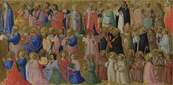 The Polyster Canvas Of Oil Painting 'Fra Angelico The Virgin