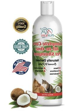 Professional All-in-One Natural Dog Shampoo for Healthy Skin