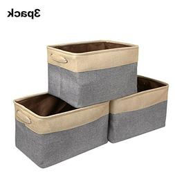 ZONYON Storage Basket Bin, Collapsible Fabric Canvas Storage