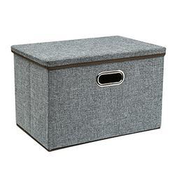 Zonyon Large Storage Box, 17.7'' Sturdy&Strong Collapsib