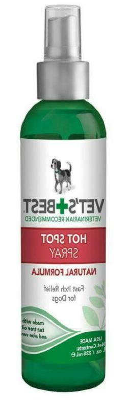 VET'S BEST HOT SPOT Itch Relief Spray for Dogs Natural Formu