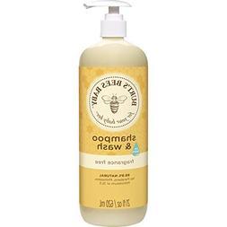 Burt's Bees Baby Shampoo & Wash, Fragrance Free & Tear Free