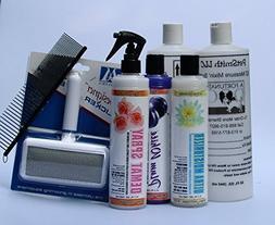 White Standard Poodle Coat Care Grooming Kit FREE BONUS