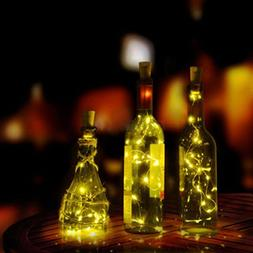 LtrottedJ Wine Bottle Cork Shaped String Light 20 LED Night